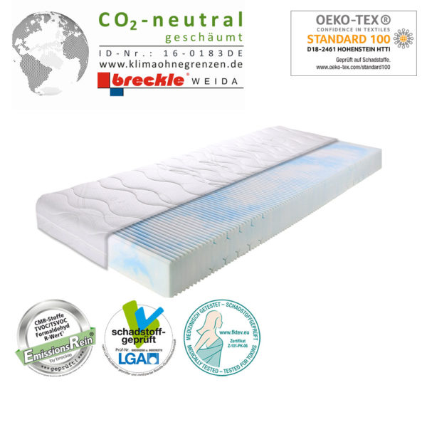 Matratze LLQ Clean Basic CO2 neutral geschäumt