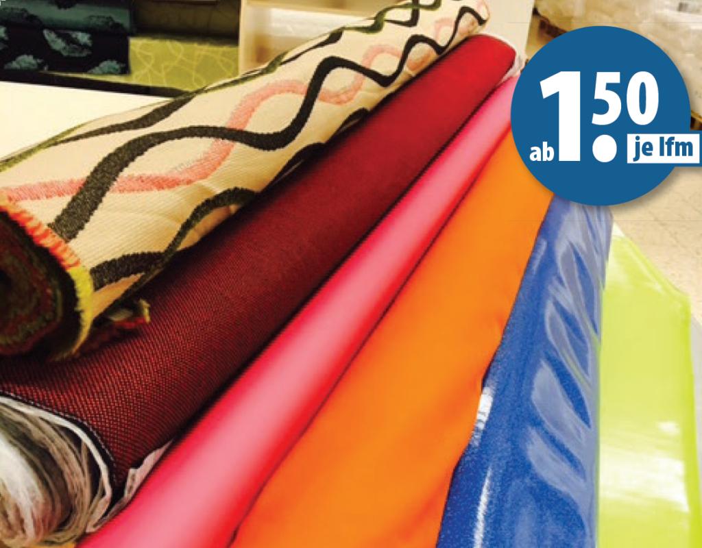 Abverkauf von Möbelstoffen ab 1,50€ je lfm